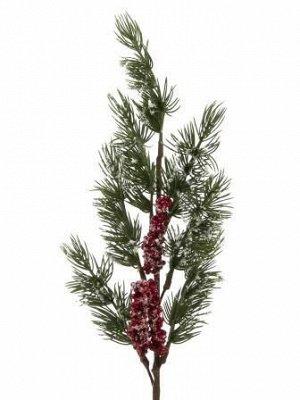 Новогоднее украшение Еловая веточка с ягодами