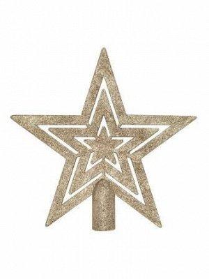 Новогоднее украшение-верхушка на елку Золото, 22x2,3x26