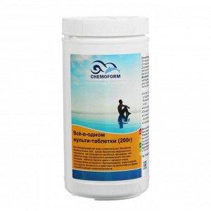 Мульти-таблетки для воды бассейна (200 гр) 1 кг всё-в-одном
