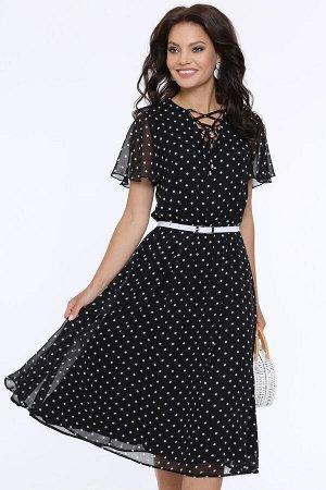Платье Чувство прекрасного, горох, с ремешком