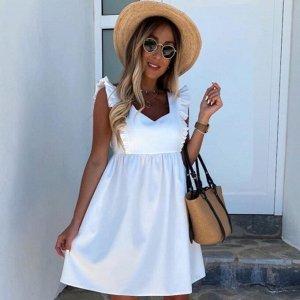 Сарафан Платье-сарафан - оптимальный выбор для жаркого лета.  Легкие натуральные ткани и открытая линия плеч позволяет чувствовать себя комфортно. Длина 85 см