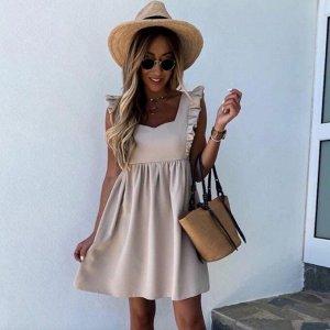 Сарафан Данная расцветка ближе к розовому цвету, отличается от изображения. Платье-сарафан - оптимальный выбор для жаркого лета.  Легкие натуральные ткани и открытая линия плеч позволяет чувствовать с