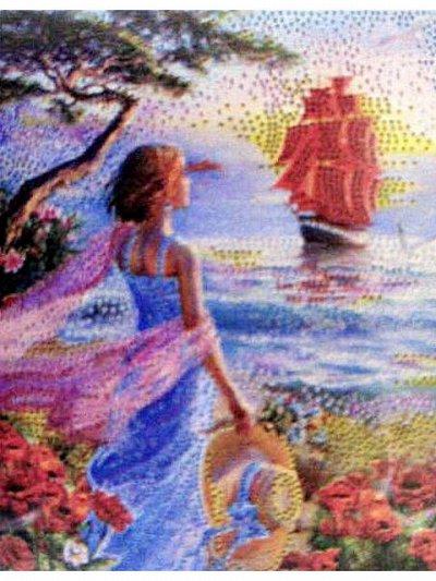 Картины по номерам, алмазная мозайка, вышивка — Алмазная мозаика 21х25 (неполная выкладка) — Мозаики и фреска