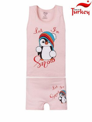 """Комплекты для девочек """"Penguin peach"""", цвет Персиковый"""