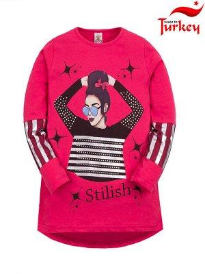 """Туники для девочек """"Stilish crimson"""", цвет Малиновый"""