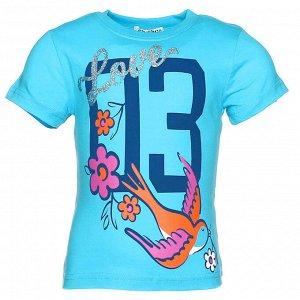 """Футболки для девочек """"Swallow"""", цвет Голубой"""
