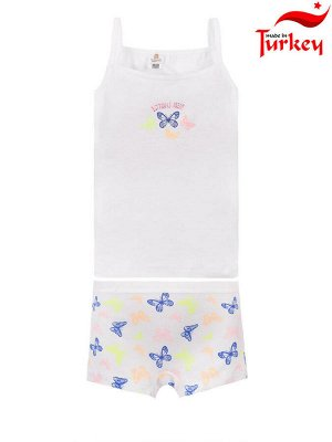 """Комплекты для девочек """"A flock of butterflies"""", цвет Белый"""