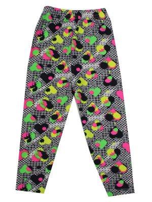 """Лосины для девочек """"Children's leggings 9"""", цвет Черно-белый"""