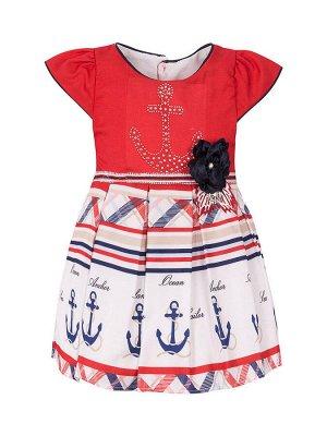 """Платья для девочек """"Sailor red"""", цвет Крансый"""