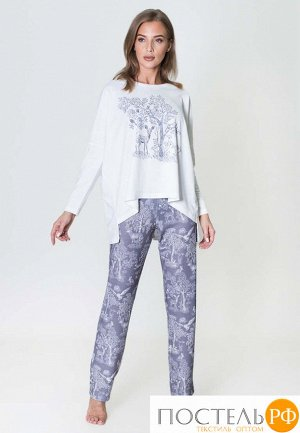 1325 Комплект с брюками и туникой длин.рукав Природа бежевый XL