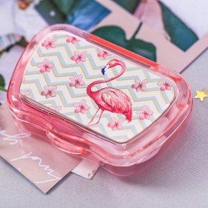"""Контейнер для линз с зеркалом """"Фламинго"""""""