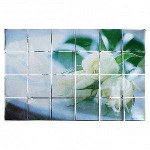 """Наклейка на кафельную плитку """"Белые розы"""""""