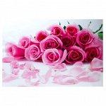 """Наклейка на кафельную плитку """"Букет розовых роз"""" 90х60 см 3556703"""