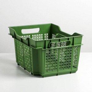 Ящик универсальный 16 л, 40?30?22 см, цвет лавровый