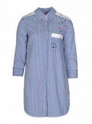 Блуза цена до скидки - 6002 руб  64%хлопок 33%полиамид 3%эластан, 550 BLU MEDIO