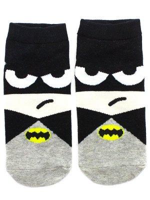 """Короткие носки р.35-40 """"Супергерои"""" Бэтмен"""
