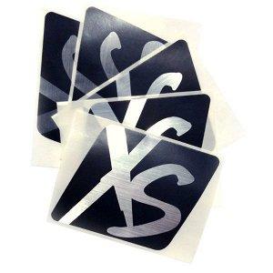 XS™ Наклейки винил 5 шт/уп черные