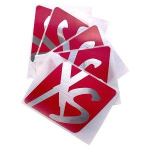 XS™ Наклейки винил 5 шт/уп красные