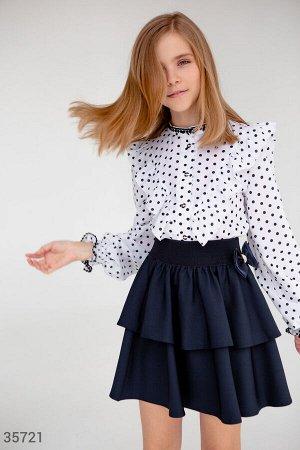 Многоярусная школьная юбка