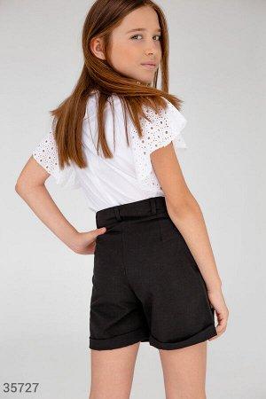 Классические черные шорты для школы