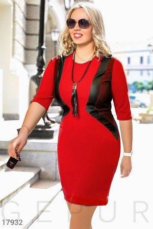 Силуэтное платье-миди