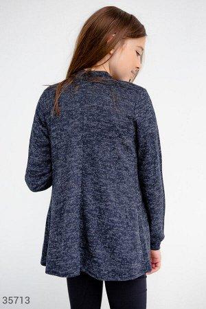 Синий кардиган из мягкой ткани