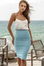 Базовая юбка-карандаш голубого цвета