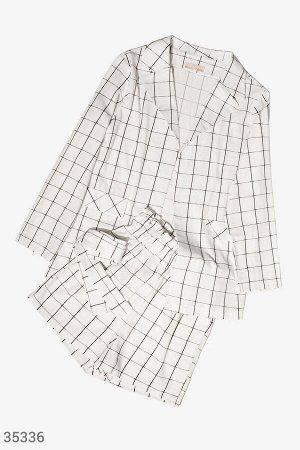 Клетчатый легкий костюм