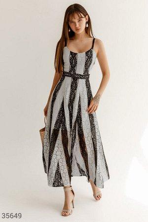 Элегантное гепюровое платье-макси