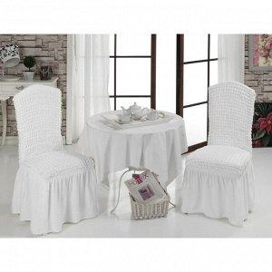 Чехлы на стулья 2 шт., цвет белый