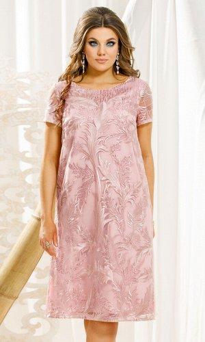 Платье Платье Vittoria Queen 11173 нежно-розовый  Состав ткани: ПЭ-100%;  Рост: 164 см.  Нежное платье в красивом и нежном оттенке с шикарной вышивкой с пайетками, А- силуэт просто находка для любого