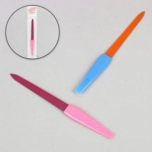 Пилка металлическая для ногтей, 15 см, цвет МИКС