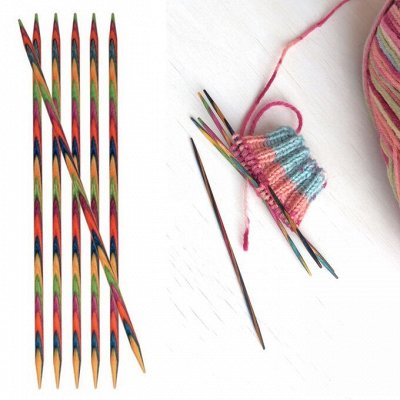 Knit Pro+Tulip — спицы, крючки, аксессуары для вязания — Спицы чулочные — Спицы и крючки