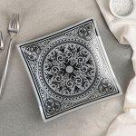 Тарелка десертная «Эльмира», d=20 см, цвет серебро