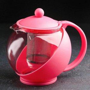 """Чайник заварочный 1,25 л """"Забота. Матовый"""", цвет МИКС"""