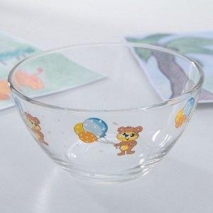 Набор детской посуды Доляна «Мишутка», 3 предмета: кружка 200 мл, миска 450 мл, тарелка 20 см