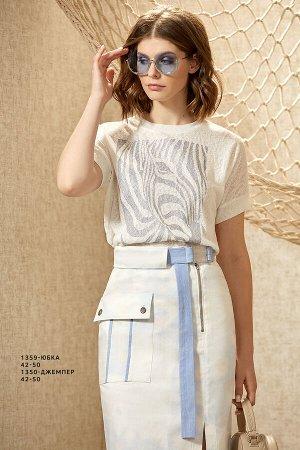 Юбка 90% ХЛОПОК 10% ЭЛАСТАН Узкая стильная джинсовая юбка из хлопка с эластаном длиной до середины колена. Спереди смещенная застежка влево, разрез и накладной карман с отделочными кантами. Сзади – ср