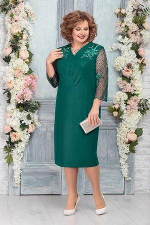 Платье Ninele 5752 изумруд