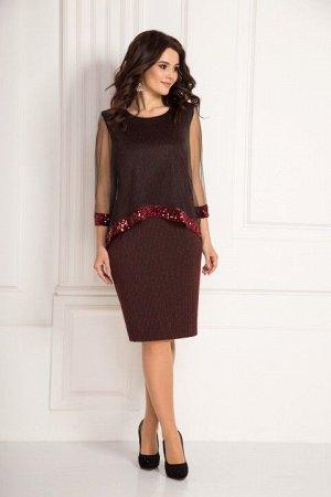 Платье Solomeya Lux 643 бордо