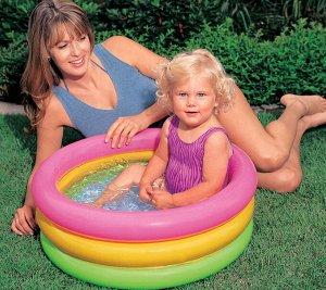 Детский надувной бассейн Intex 61 х 22 см, 34 л