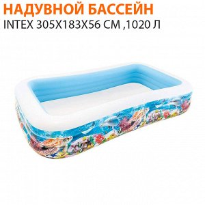 Надувной бассейн Intex 305х183х56 см ,1020 л