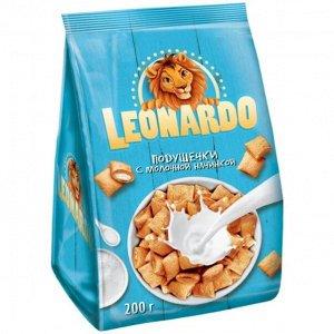 Зерновые подушечки «Leonardo» из пяти злаков с молочной начинкой, 200 г