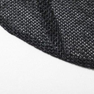 """Салфетка сервировочная Доляна """"Листочки"""", цв.черный, 30*45 см"""