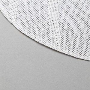 """Салфетка сервировочная Доляна """"Листочки"""", цв.белый, 30*45 см"""