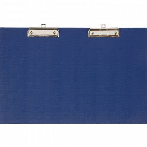Папка-планшет Attache A3 горизонтальный, с двумя зажимами синий