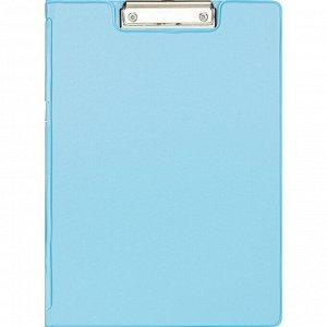 Папка-планшет с зажимом и крышкой Attache Bright colours A4 голубой