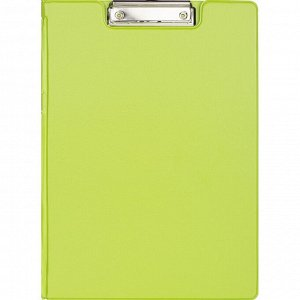Папка-планшет с зажимом и крышкой Attache Bright colours A4 лайм