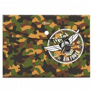 Папка-конверт на кнопке А5 №1School Military, 92832