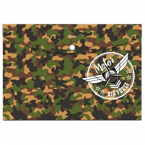 Папка-конверт на кнопке А4 №1School Military, 92831