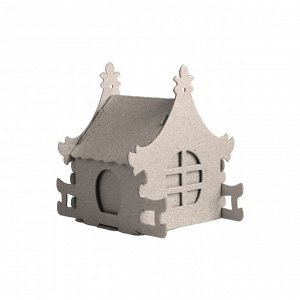 Набор для творчества сборный картонный домик для раскраш., Ирис,3...